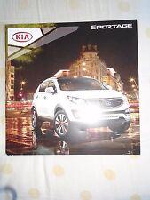 Kia Sportage brochure Jul 2012 UK market
