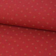 Baumwollstoff Trachten einzelne Blumen rot grün 1,50m Breite
