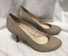 Franco Sarto Orlina Pumps Women's 6.5M Nude Patent Leather High Heels Dress Shoe