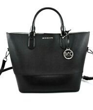 Michael Kors TRISTA LARGE Drawstring Tote Bag+Pouch In LUGGAGE MULTI Black