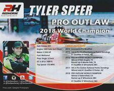 2018 Tyler Speer Redhorse Pro Outlaw/Top Fuel Drag Boat PRI Show Promo postcard