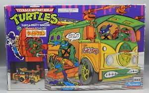RARE Vintage 1988 Playmates Japan TMNT Ninja Turtles PARTY WAGON w/ Box TAKARA !