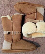 NWOB!  NU! EMU, LADIES 8, 'MALLACOOTA' TAN SHEEPSKIN CONVERTABLE BOOTS