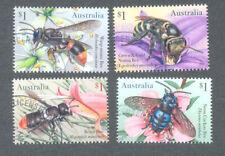 Australia-Native Bees gummed fine used set-2019