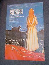 Vintage 1974 Edvard Munch Hayward Gallery Exhibition Poster
