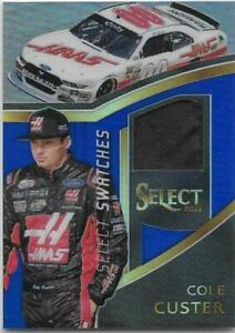 Cole Custer 2017 Select Select Swatches Blue #CC SN 126/199