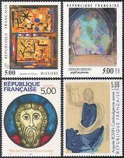 FRANCIA 1990 ART/DIPINTI/VETRO COLORATO/Artisti/Moderno/PEOPLE 4 V Set (n42030)