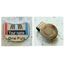 anneys *your OWN PERSONALISED GOLF BALL MARKER - one putt - 25*20mm* + hat clip!