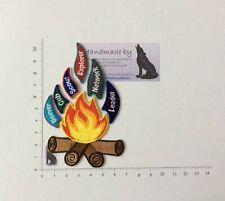 UK New Scouting Campfire Badge Set, Beaver Cubs Scouts Explorers Camping Badges