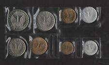 GREECE 8 COINS 1973 B COMPLETE SET UNC