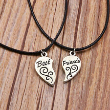 NEW BFF Pendant Best Friend Charm Silver Black Necklace Chain Fashion Jewelry