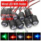 3mm 5mm 8mm 10mm Pre Wired LED + Holder DC9-12V Diffused Lights Emitting Diodes
