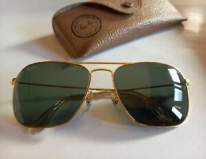 Ray Ban Vintage B&L  L0227 CARAVAN  Gold Plated. G-15 Green  58-16. USA. Funda