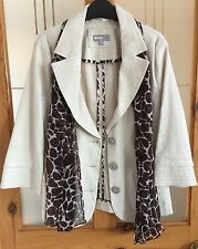 Ladies Per Una Linen Jacket With Matching Scarf Size 10