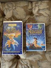 RARE The Little Mermaid VHS and Return to the Sea DVD Set