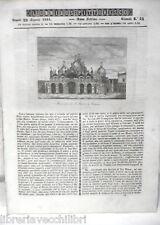 ANTICA STAMPA INCISIONE 1844 San Marco a Venezia Madrid Teodorico Borsa avaro di