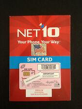 Net10 Unlimited T-Mobile Dual Sim Card $35 Mo. No Data Limit Net10 Sim Card