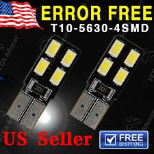 2X 6000K White CANBUS T10 LED LICENSE PLATE Interior Light Bulb W5W 2825 158 192