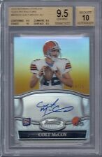 BGS 9.5 2010 Bowman Sterling GOLD REFRACTOR AUTO Colt McCoy RC BROWNS #d/25