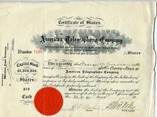 1907 Stock Certificate American Telegraphone Company Washington Dc