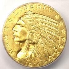 1914 Indian Gold Half Eagle $5 Coin - ICG MS63 - Rare in MS63 - $1,780 Value!