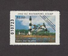 NC10 - North Carolina State Duck Stamp. Single.  MNH. OG.