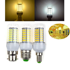 B22 BC E27 ES E14 SES LED Corn Bulbs 2835 SMD Cool Warm White Lamp 220V Light RM