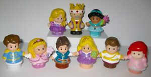 9 Fisher Price Little People Disney Prince Princess Jasmine Rapunzel Ariel King