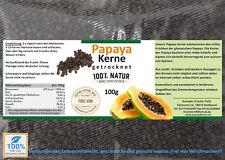 (€17,50/100g) Papaya Kerne, Papaya Seed, Papain, A-Ware. Spitzenqualität 100g