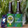 Johnston Clan Drink Cooler - Scottish Stubby Holder - Beer Bottle Can