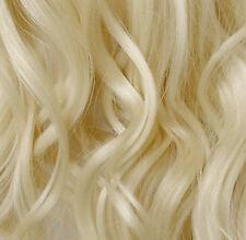 "24 ""Clip en extensiones de cabello rizado ligero Rubia # 60 Completo Cabeza 8pcs"
