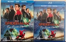 MARVEL SPIDER MAN FAR FROM HOME BLU RAY DVD 2 DISC SET + SLIPCOVER SLEEVE BUY IT