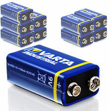 10x VARTA 9v Block Batterie 6lr61 550mah E-block Alkaline Industrial