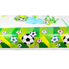 Disposable Football Plastic Table Cover Tablecloth Birthday Party Decoration  pO