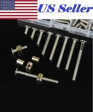 Xinwoer Furniture Bolts,M6 Carbon Steel 120mm Connector Bolts with 6mm Barrel Nuts Connector Fastener 10PCS//Set