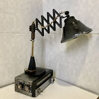 Handmade Vintage Table Scissor Lamp from 60s/ Steampunk Industrial