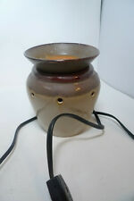 Scentsy DELTA Brown Bean Pot Look Wax Scent Warmer - Preowned Box
