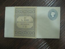 TEN Queen Victoria envelopes with  Embossed  2 1/2d  +scarce original wrapper !