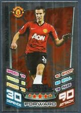 TOPPS MATCH ATTAX 2012-13- #388-MANCHESTER UNITED-ROBIN VAN PERSIE-SILVER FOIL