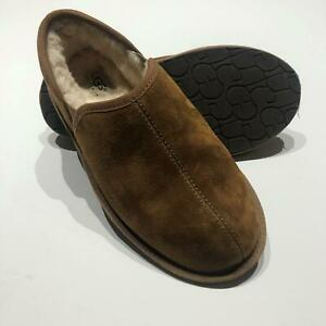 UGG Australia #5650 Scuff ROMEO Chestnut Suede Shearling Fur Slippers Men 7 BB4