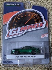 2021 GREENLIGHT GREEN MACHINE 2021 FORD MUSTANG MACH 1 MUSCLE 24 CHASE