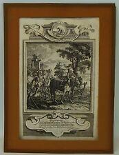 MICHAEL HEINRICH RENTZ 1701 - 1758 DER ACKERSMANN BAROCKER KUPFERSTICH SKELETT
