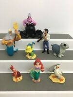 Disney Little Mermaid Ariel Figures Cake Toppers Lot Of 8 Ursula Flounder