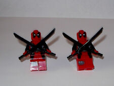 DEADPOOL  MARVEL SUPER HEROES AVENGERS FIGURES CUFFLINK W/ GIFT BOX LEGO TYPE