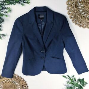 The Limited Women's Size 2 Solid Blue 2 Button Blazer Sport Coat