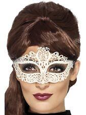 White Lace Mask Embroidered Lace Filigree Eyemask