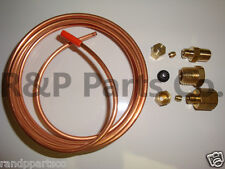 "Oil Pressure Gauge Tubing Line Kit 1/8"" x 72"" Dia Copper for Case Tractor ABC523"