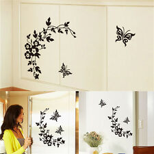 Butterfly Flower Bathroom Toilet Laptop Walls Decals Stickers Home Decor~