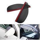 2* Car Mirror Rain Board Sun Visor Shade Shield Right Left Side Mirror Universal