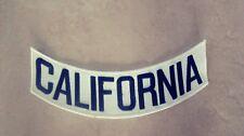 CALIFORNIA Bottom Rocker Patch, White & Black Harley, HA, Mongols MC, 1%er